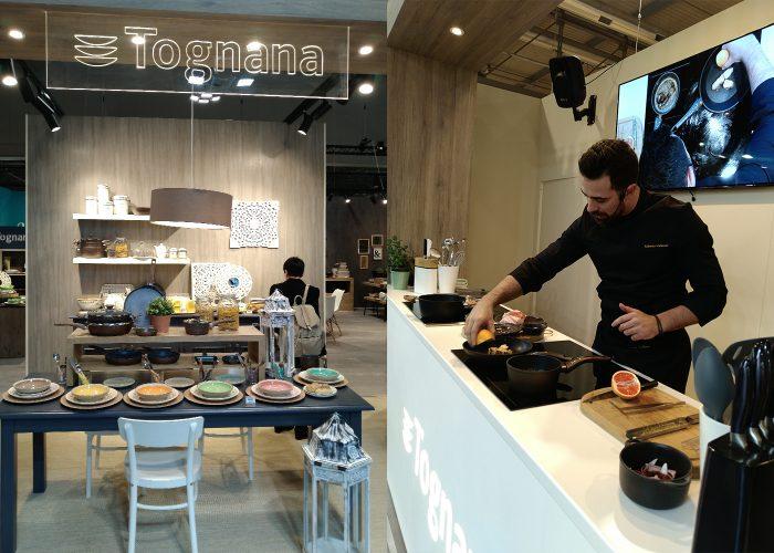 HOMI Milano 2019 - stand Tognana con cuoco Roberto Valbuzzi